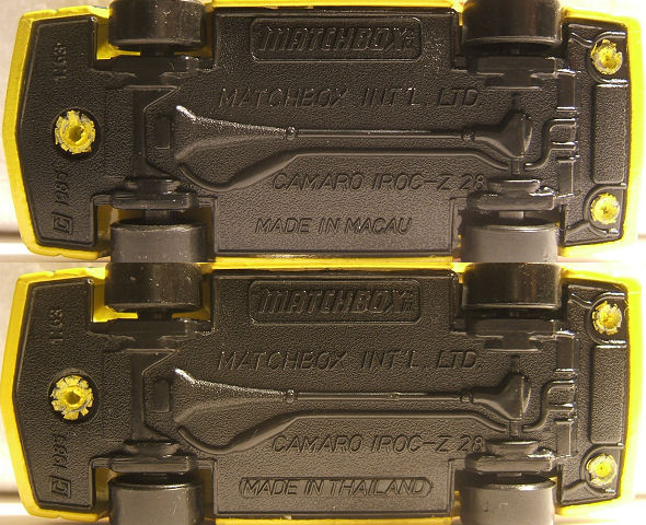 0824 Matchbox Lock-UPS 84010 Camaro Z28 OVP